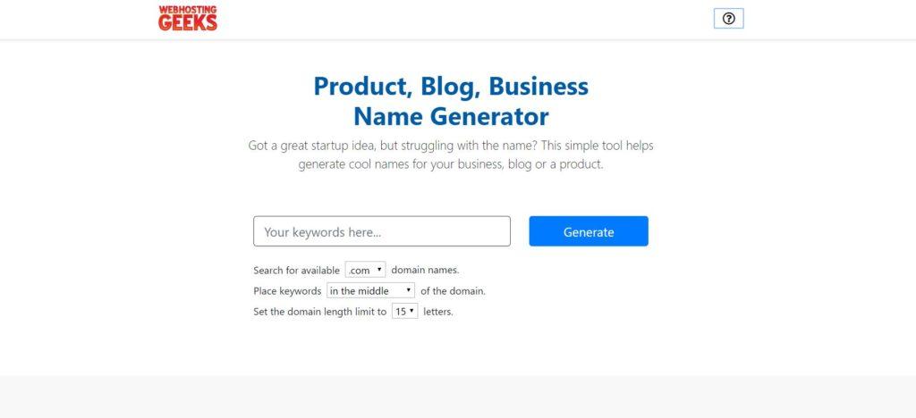 webhosting geeks name generator