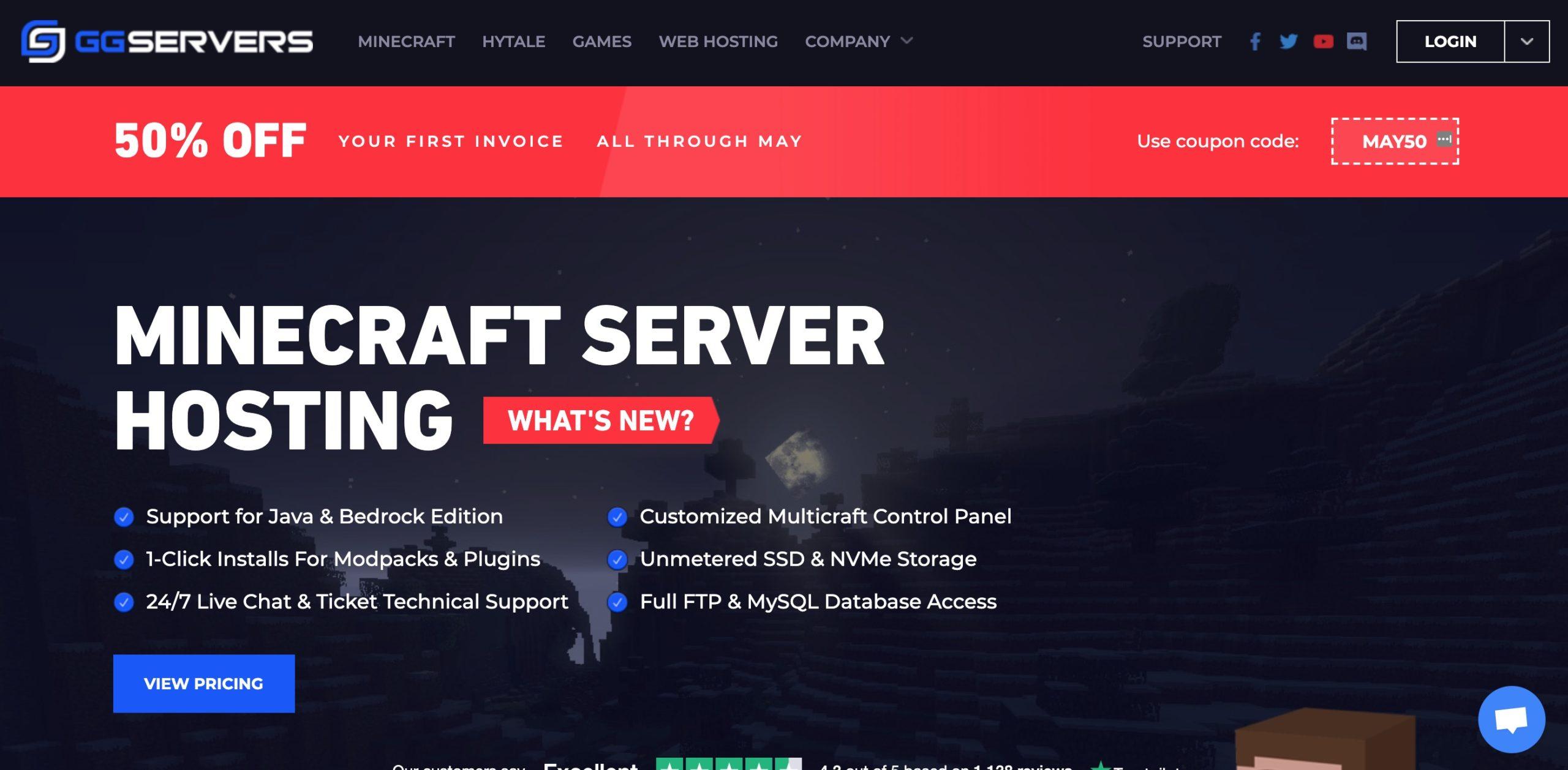 Hébergement de serveurs Minecraft: ggservers