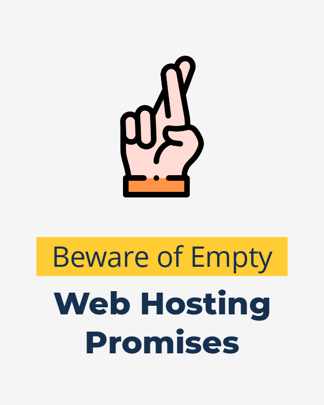 Beware of Empty Promises in a Web Hosting Company