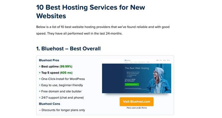 HostingFacts website review recommendation for best web hosting service