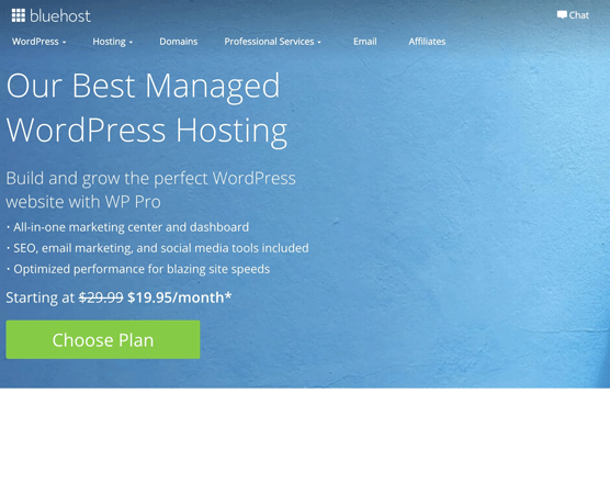 Bluehost WordPressPro