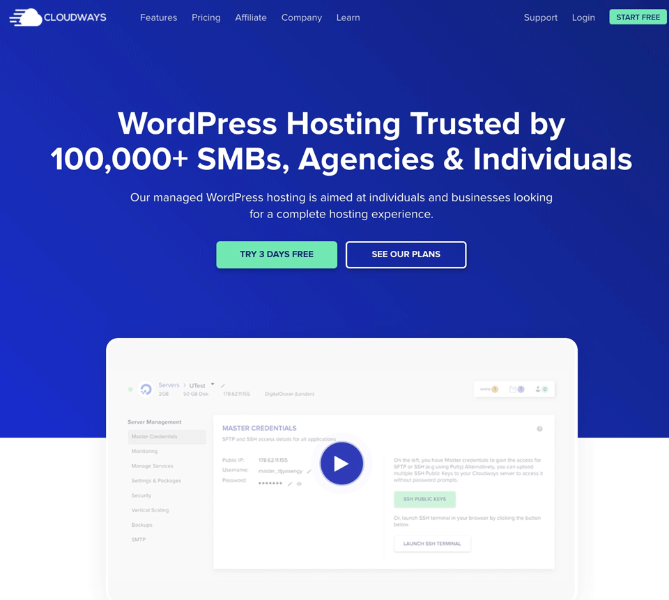 Cloudways managed wordpress