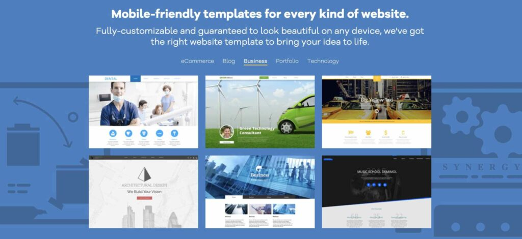 HostGator templates sample screenshot