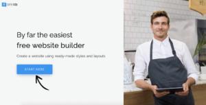 SITE123 website builder homepage